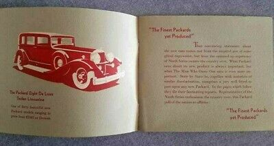 Rare Vintage 1930's PACKARD Car COUNTRYWIDE Brochure