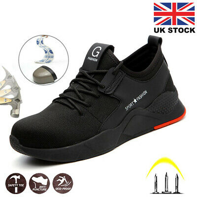Mens Safety Shoes Trainers Steel Toe Work Boots Lightweight Hiking Sneakers UK
