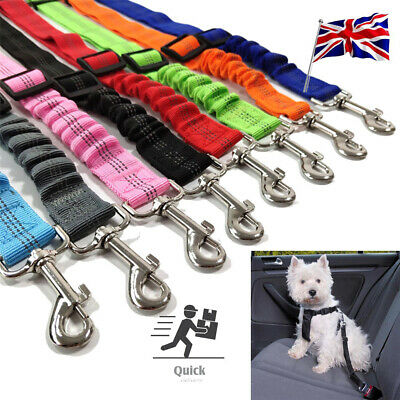 Anti Shock Dog Pet Car Seat Belt Clip Bungee Lead Vehicle Travel Safety Harness