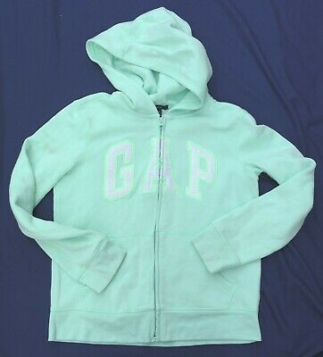 GAP Girls Pastel Green Long Sleeved Hoodie Cotton Polyester XXL 13 Years Marked