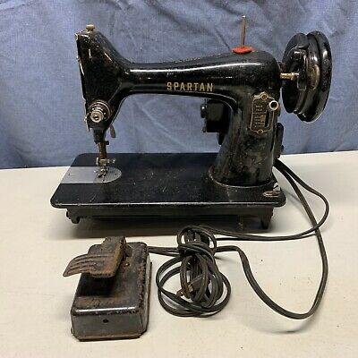 Vintage Singer (Spartan) Sewing Machine With Foot Pedal (For Parts/Repair)