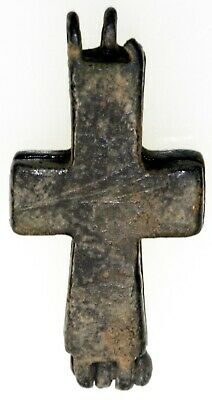 Byzantine, Cross, 6-10th Cent. AD, AE 18 x 38, Intact