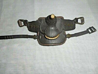 Marchon Plastic Toy Western Horse Saddle 1988 Dark Brown & Bronze = BROKE CLASP