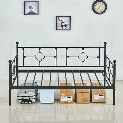 Daybed Frame,Twin Size Multi-Functional Metal Platform with Headboard,Sofa Frame