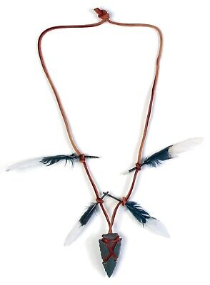 Womens Deluxe Native American Indian Necklace Armband Kit Costume Accessory Set
