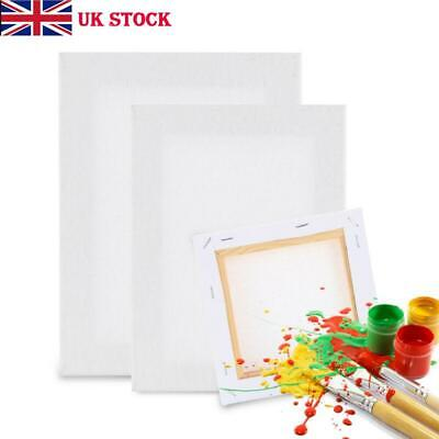 Blank Artist Canvas Art Board Plain Painting Stretched Framed Small Large UK