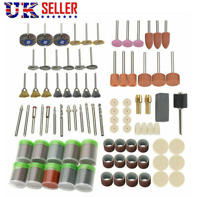 350Pcs Rotary Drill Tool Accessories Bit Set Polishing Kit For Dremel Grinding
