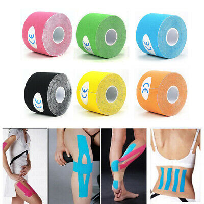 6 Rollen Elastisches Kinesiologie Tape Sport Kinesiology Physiotape Tapes 5cm*5m