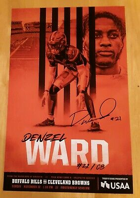 Cleveland Browns Denzel Ward Poster Photo SGA 11/10 + Mayfield Schedule Ohio St