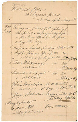 Benjamin Stoddert - Manuscript Document Signed 12/31/1800