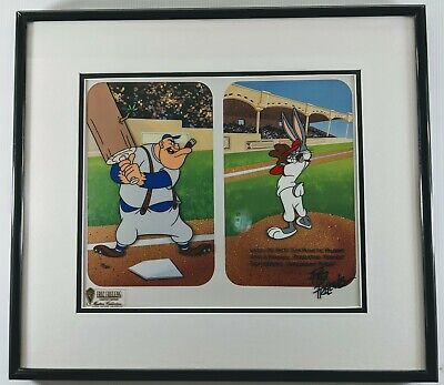 """Palooka Pitch"" Friz Freleng FRAMED Bugs Bunny Baseball Limited Edition Cel"