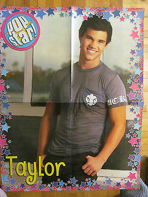 Taylor Lautner, Four Page Foldout Poster, Double Sided, Selena Gomez