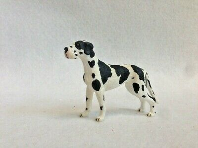 Schleich Retired  Harlequin Great Dane   Female Dog Figure