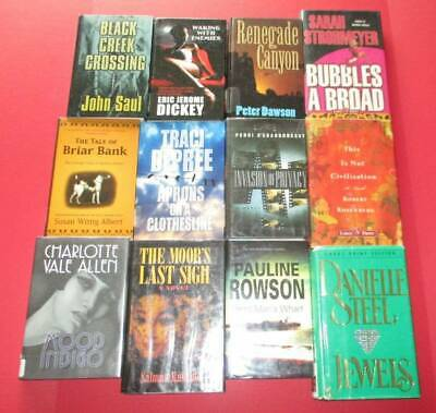 LARGE PRINT Lot of 12 -HARDCOVERS - Ex-Library Copies