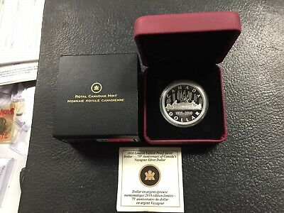 2010 CANADA LIMITED EDITION PROOF SILVER DOLLAR 75th VOYAGEUR ANNIVERSARY!