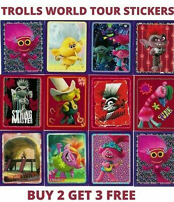 Dreamworks Trolls World Tour Stickers Topps 2020 Individual Stickers