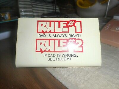Large Fridge Magnet: Rule #1 Rule #2 THE BOSS IS ALWAYS RIGHT see Rule #1