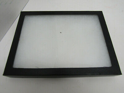 Old Table Top Small Display Case Box Glass Lid Multi-Purpose