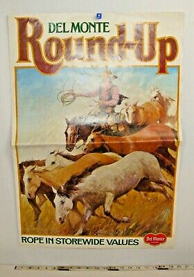 Kraft Foods Rodeo Days Cowboy 1970 Artist Store Double Sided Poster #3