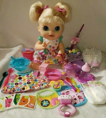 Baby Alive Real Surprises French & English Doll Works Original Accessories Lot