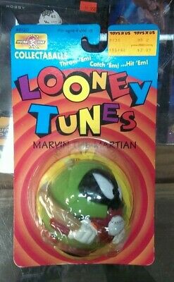 Vintage 1995 Looney Tunes MARVIN THE MARTIAN Sealed Ball / Spectra Star / RARE