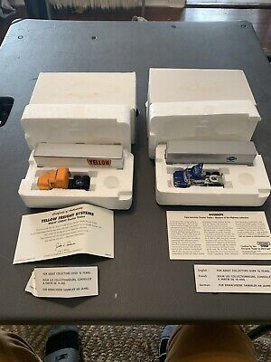 Lot Of 2 Matchbox Collectibles Masters of the Highway Yellow Freight Overnite 1c