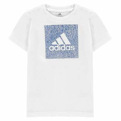 adidas Must Haves Box Badge of Sport T Shirt Youngster Boys Crew Neck Tee Top