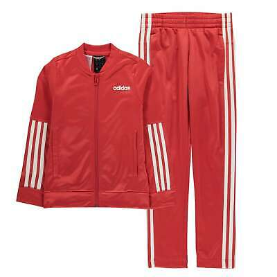 adidas 3 Stripe Tracksuit Youngster Girls Poly Full Length Sleeve Lightweight