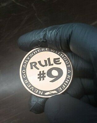 Gibbs Little Brother - Rule #9 - Laser Engraved - Copper Coin - Cu110 - 37mm