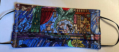 Stained Glass Beauty & The Beast  Disney Face Mask