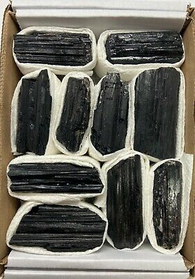 Bulk Naturally Formed Black Tourmaline LOGS - 8-11 PCS 1.4- 1.8 LBS. BEST PRICE