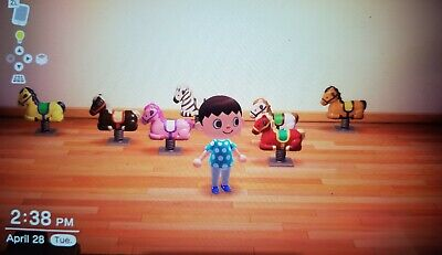 Animal crossing New Horizons All Springy Ride On Horses