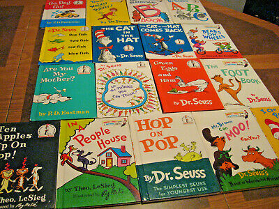 17 Dr Seuss Hardback Children Learning To Read Books