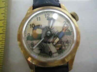 Vintage Automated Baseball Pitcher Wrist Watch..manual Self Winding Arm Moves