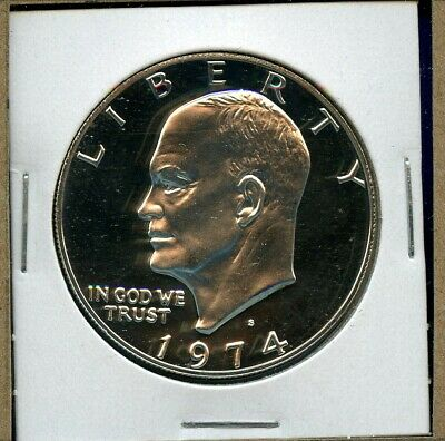 1974 S Eisenhower Dollar Silver Proof US Mint Coin 1974-S DCAM BU MS+++++