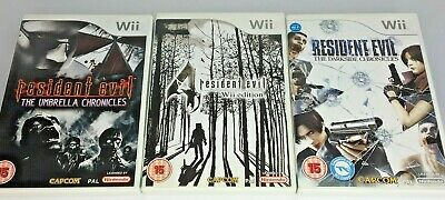 Wii Game- Resident Evil Series 4/Umbrella/Darkside Chronicles  **Multi Listing**