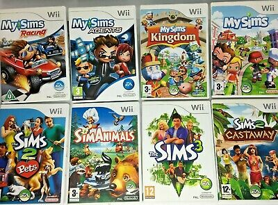 Wii - Sims Games - My Sims Kingdom/Racing/Simanimals/Pets 2 etc  *Multi Listing*