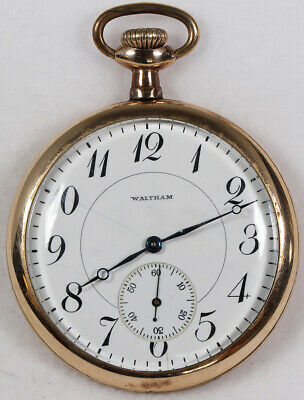Waltham Pocket Watch 16 Size Gold-Filled Open-Face - Working