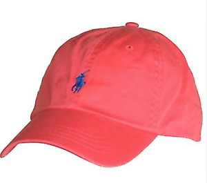 Polo Ralph Lauren Fiery Coral Pony Logo Cap/Hat Baseball One Size Adjustable