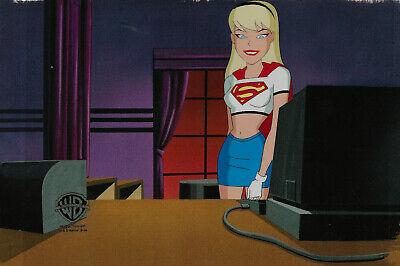 Warner Brothers Animated Series Orig Production Cel Supergirl-Girls Night Out