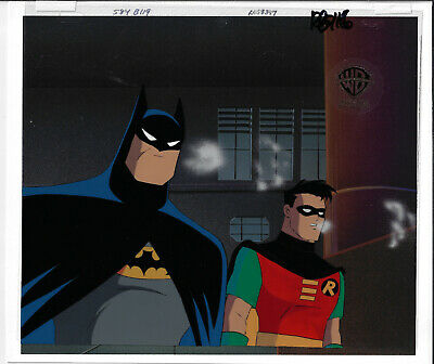 Batman Animated Series Original Production Cel Batman/Robin-Deep Freeze