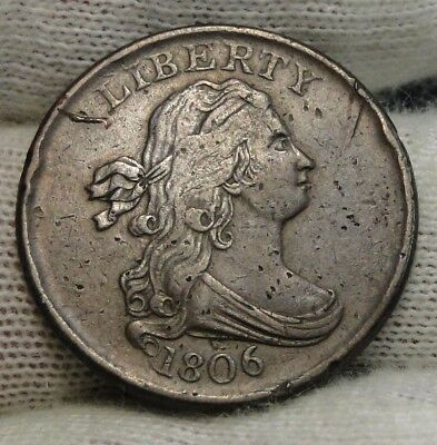 1806 Draped Bust Half Cent - Nice Coin, Free Shipping  (7573)