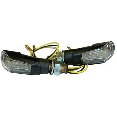 Pair of Indicators LED Clear Universal Homologated