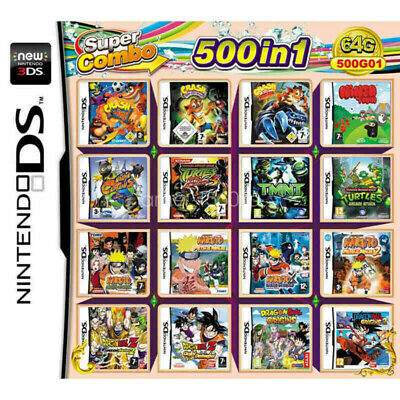 500 In 1 Cartridge Video Game Card Console for NDS NDSL 2DS 3DS NDSI All System