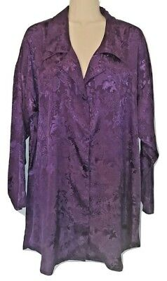 Vintage Victoria's Secret Purple Sleep Shirt Night Gown Gold Label Med/Lrg