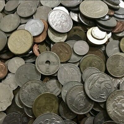 Huge Unsearched Lot of World Foreign coins selling by 500g with 110-150 coins