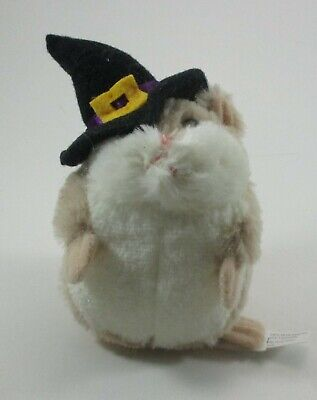 """zzS LIL HAMSTER plush Witch tan stuffed 3.5"""" Ganz halloween toy"""