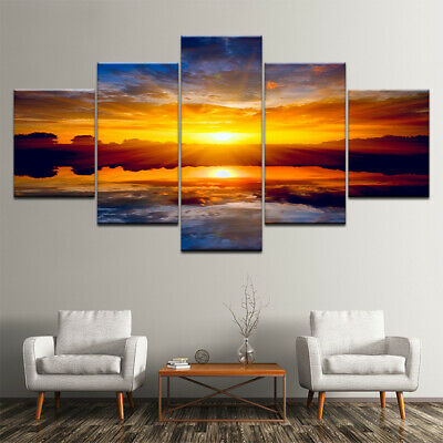5 Panels Unframed Modern Wall Hanging Canva Printings Picture Art Oil Home Deco