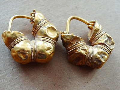 GREEK GOLD EARRINGS PROVENANCE CHRISTIE'S 6th-5th CENTURY BC