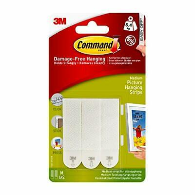 Command White 12 lb Picture Hanging Strips Decorate Damage-Free Indoor Use (1...